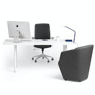 Series A Executive Desk, White Legs,,hi-res