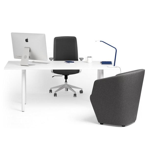 """Series A Executive Desk, White, 72"""", White Legs,White,hi-res"""