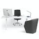 """Series A Executive Desk, White, 72"""" x 36"""", White Legs,White,hi-res"""