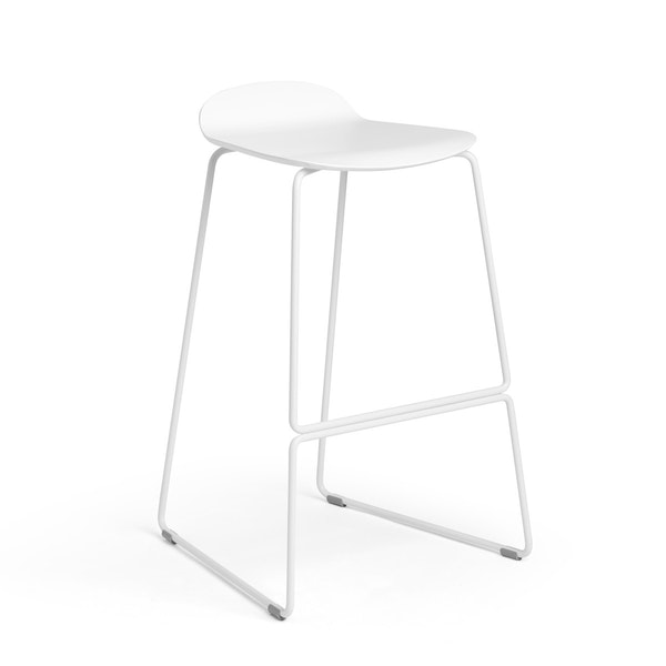 White Upbeat Stool,White,hi-res