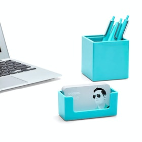 Aqua Business Card Holder,Aqua,hi-res