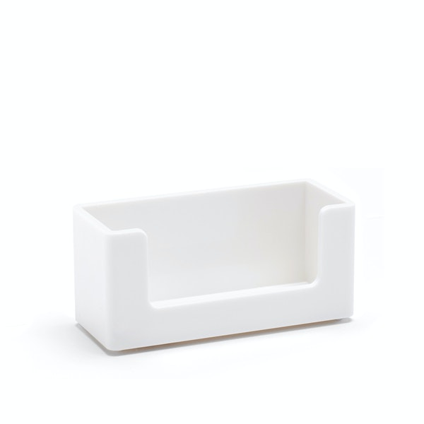 White Business Card Holder,White,hi-res