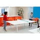 White + Pool Blue Series A Ping-Pong Conference Table,Pool Blue,hi-res