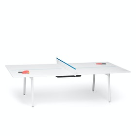 Ping-Pong Conference Table + 8 Mid Back Task Chairs, Pool Blue,Pool Blue,hi-res
