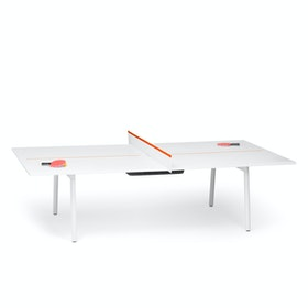 White + Orange Series A Ping-Pong Conference Table,Orange,hi-res