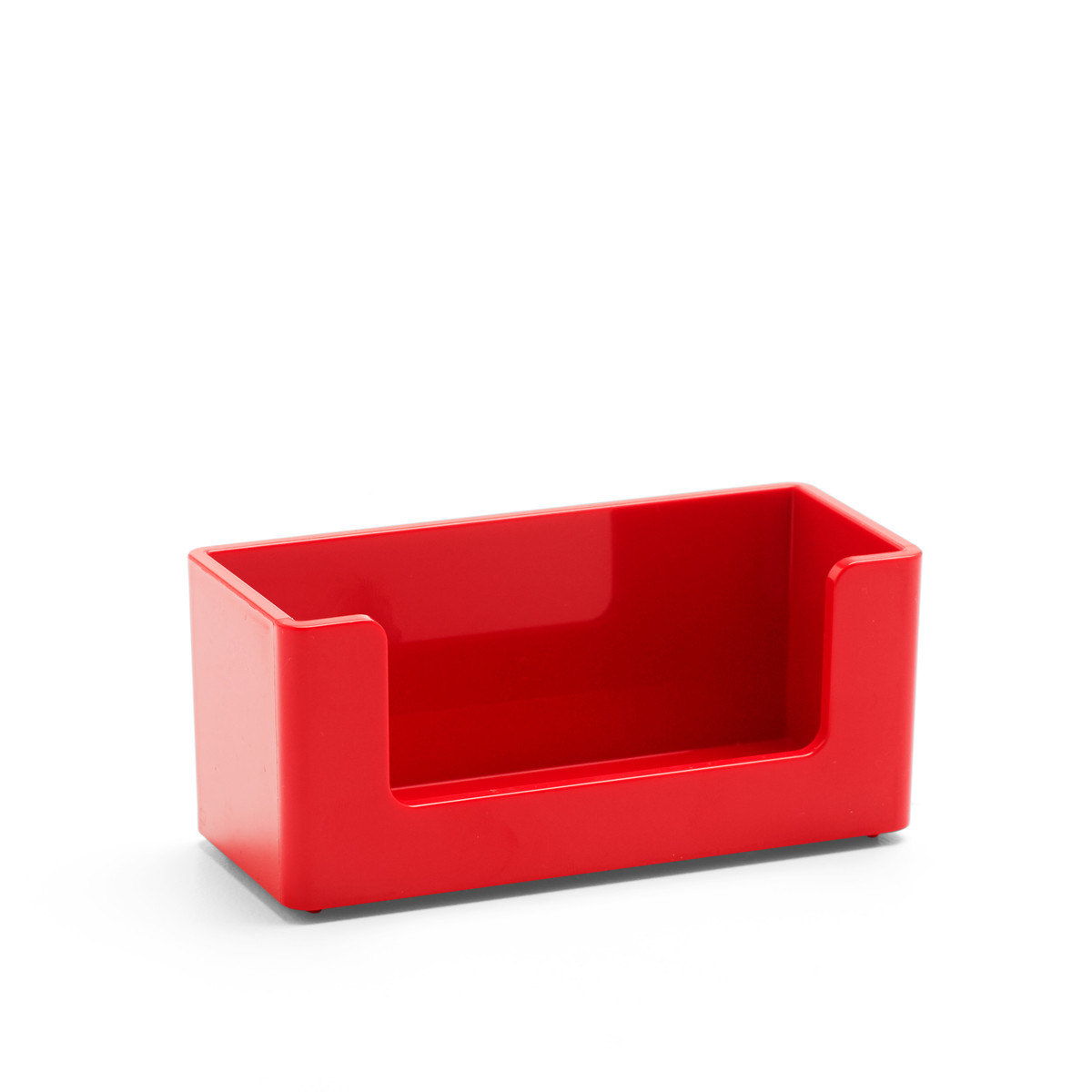 Red Business Card Holder | Desk Accessories| Poppin