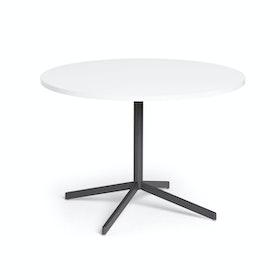 "White Touchpoint Meeting Table, 42"", Charcoal Legs,White,hi-res"