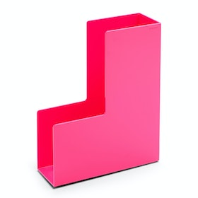 Pink Magazine File Box,Pink,hi-res