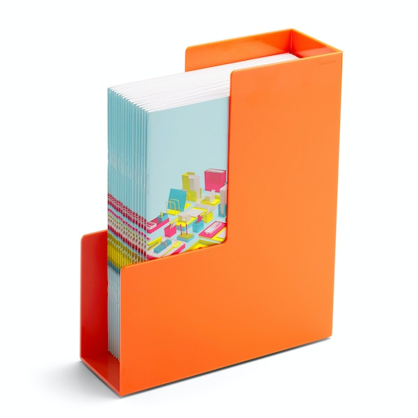 Orange Magazine File Box,Orange,hi-res