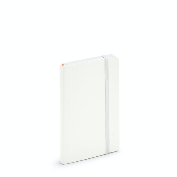 White Small Soft Cover Notebook,White,hi-res