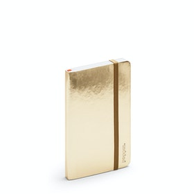 Gold Small Soft Cover Notebook,Gold,hi-res