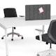 "Dark Gray Privacy Panel, 28"", Face-To-Face Installation,Dark Gray,hi-res"