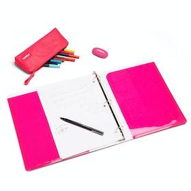 """Pink 1"""" Pocket Binder,Pink,hi-res"""