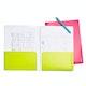 Dark Gray + Lime Green 2-Pocket Poly Folder,Dark Gray,hi-res