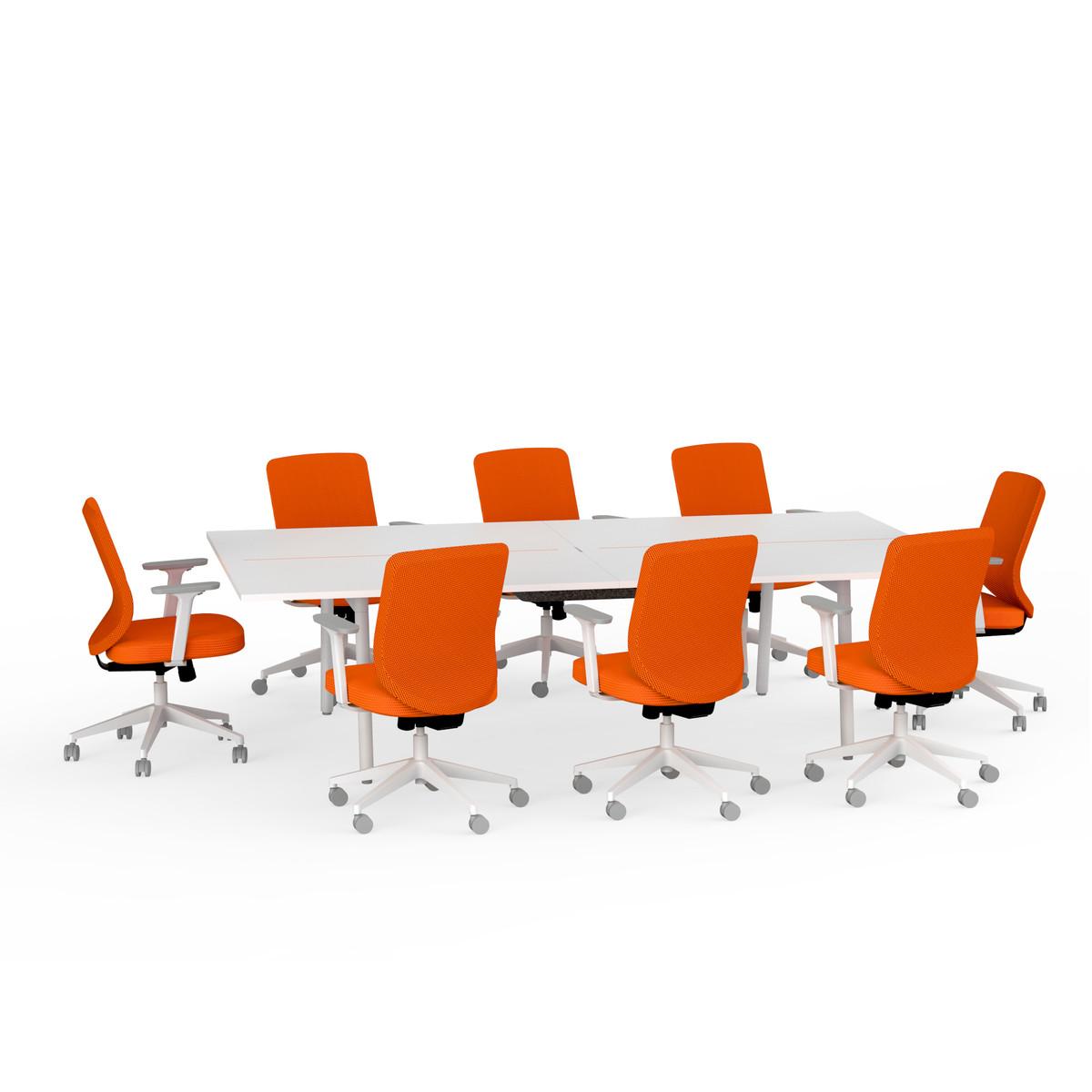 Orange Office Furniture Office Jive Black Ribbed Vinyl Midback
