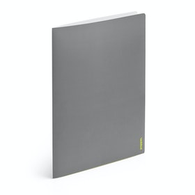Dark Gray + Lime Green 2-Pocket Poly Folder,Dark Gray,hi-res