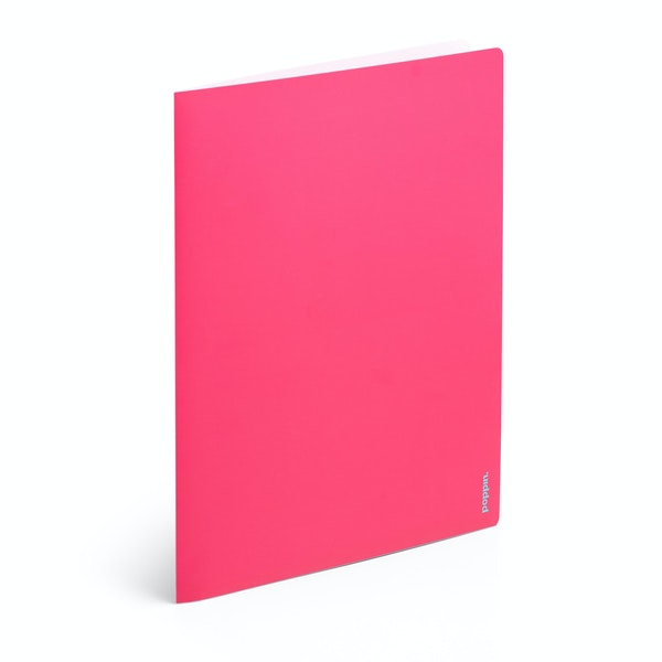 Pink + Aqua 2-Pocket Poly Folder,Pink,hi-res