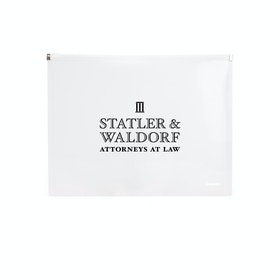 Custom Clear Zip Folios,White,hi-res