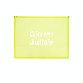 Custom Neon Green Zip Folios,Lime Green,hi-res
