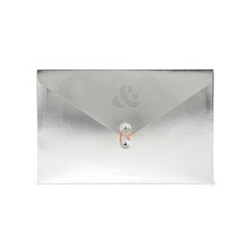 Custom Silver Soft Cover Folio,Silver,hi-res