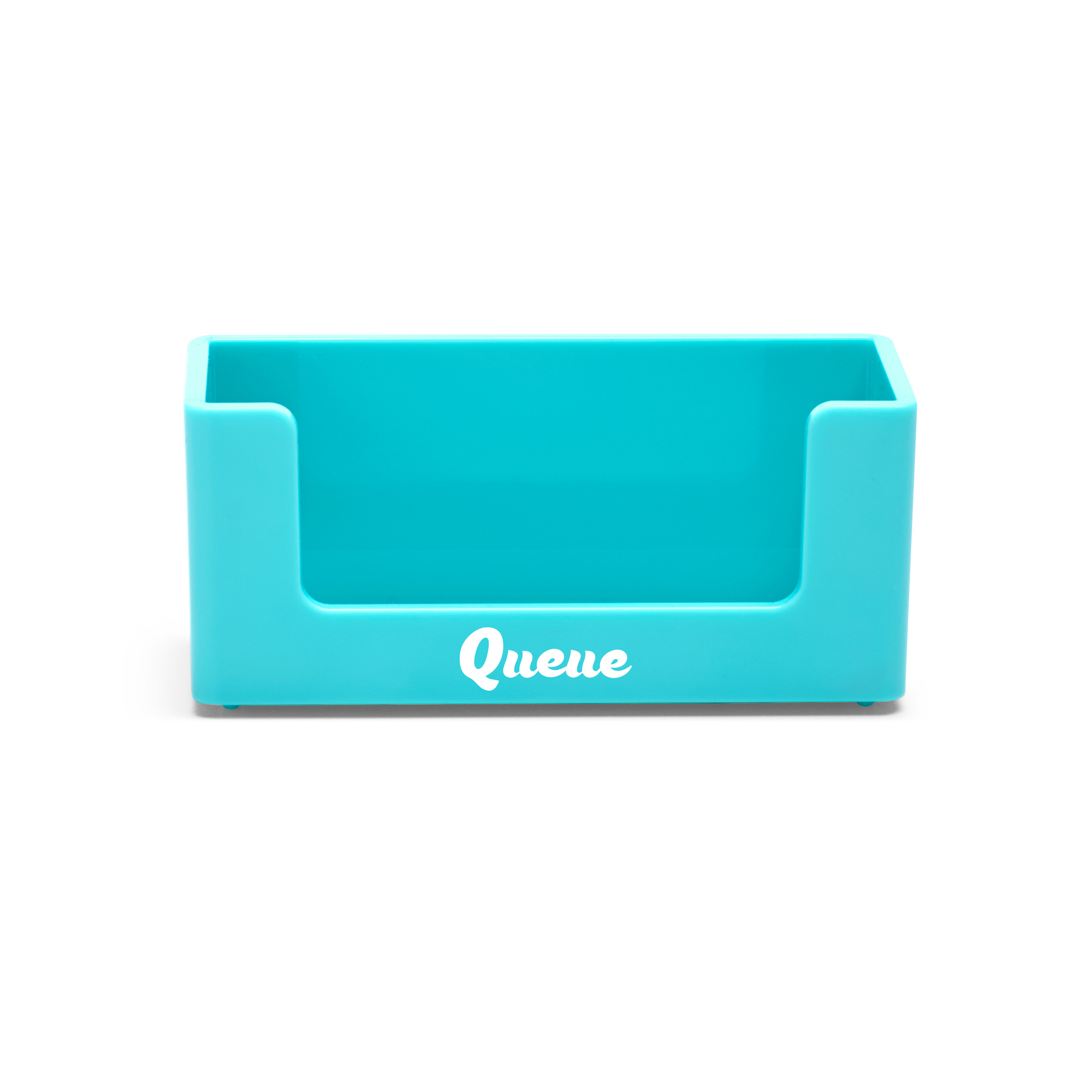 Custom business card holders desk accessories organization poppin custom aqua business card holderaquahi res loading zoom colourmoves