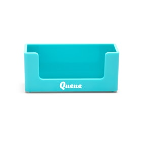 Custom Aqua Business Card Holder