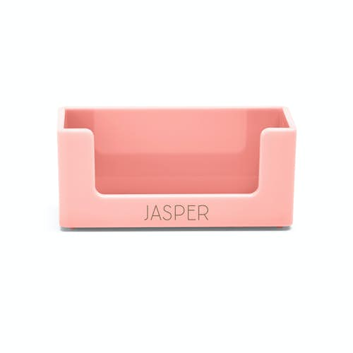 Customized business card holders customized office supplies poppin custom blush business card holderblushhi res colourmoves
