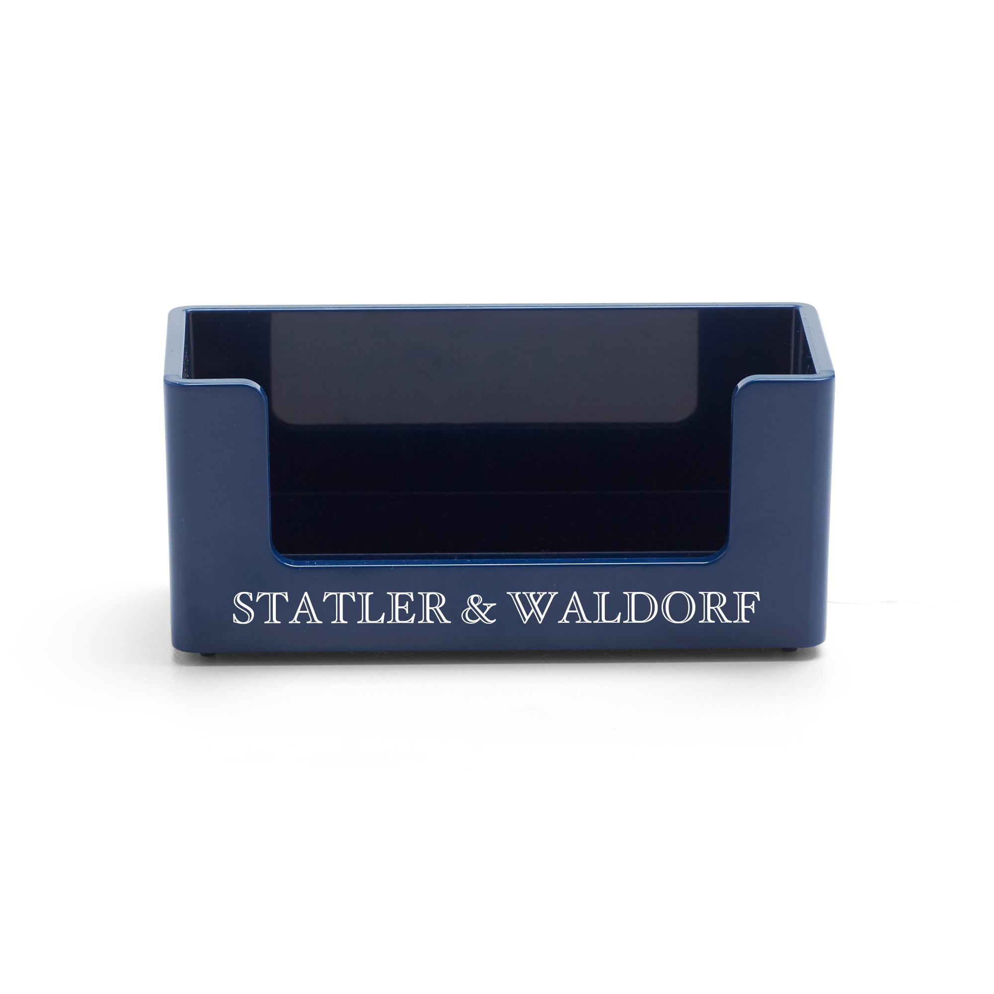 Custom Navy Business Card Holder | Desk Accessories| Poppin
