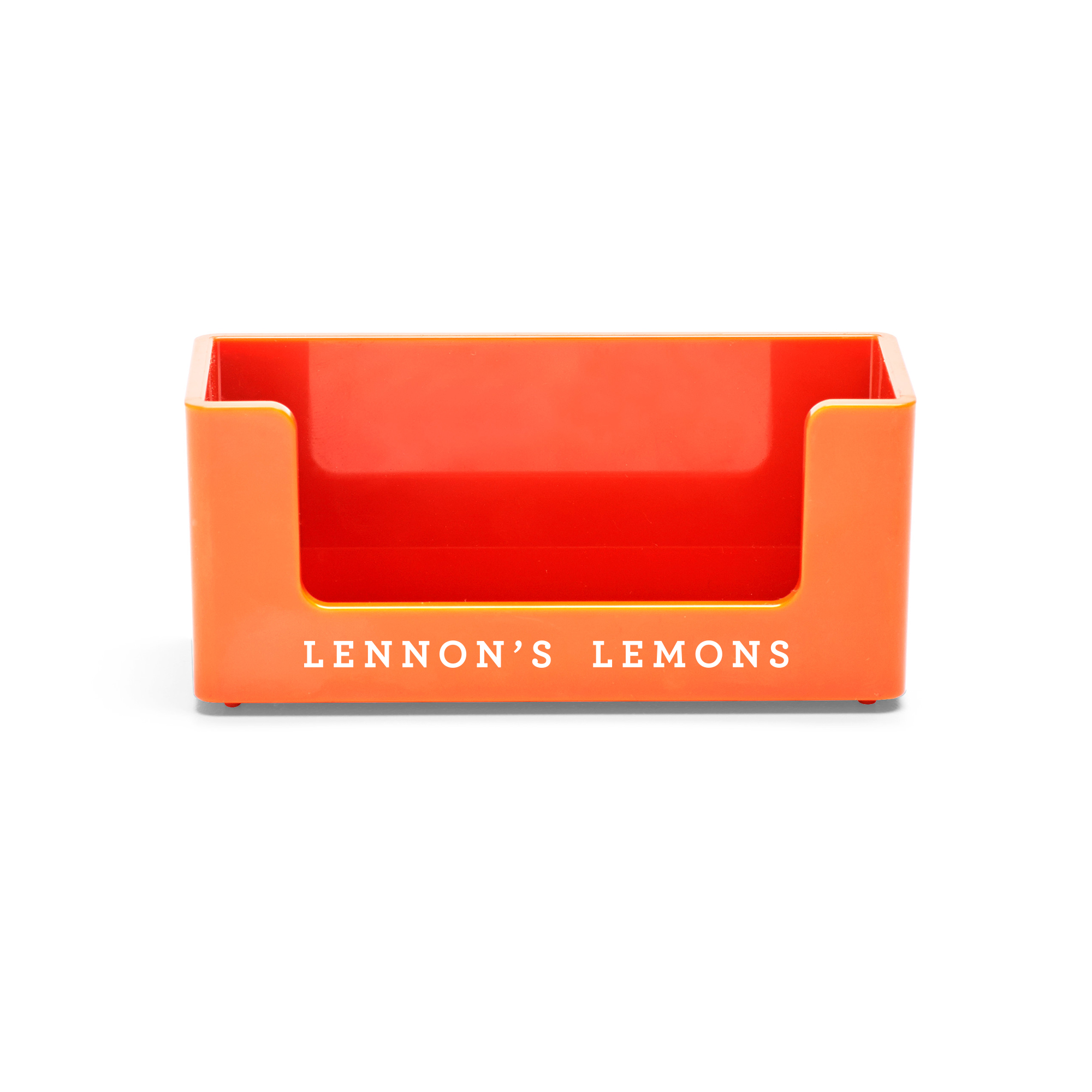 Custom Orange Business Card Holder | Desk Accessories| Poppin