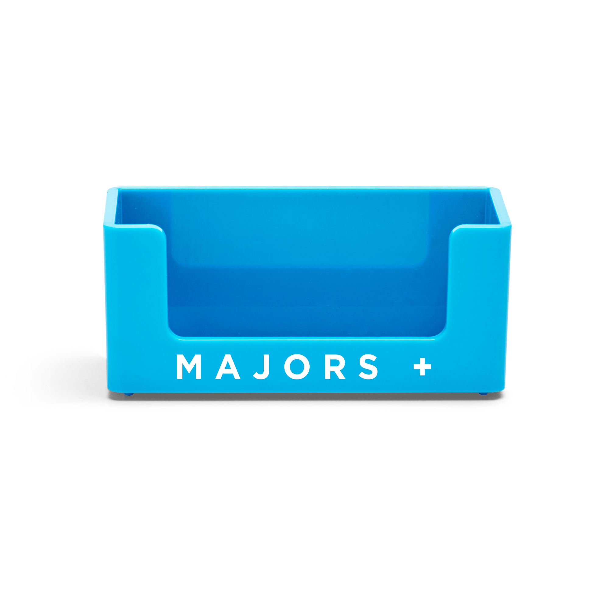custom pool blue business card holder