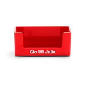 Custom Red Business Card Holder,Red,hi-res
