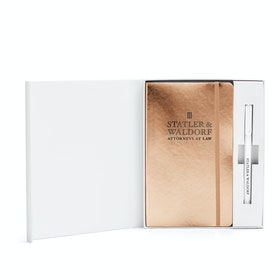 Custom Copper Soft Cover Gift Box Set, White Metal Pen,Copper,hi-res