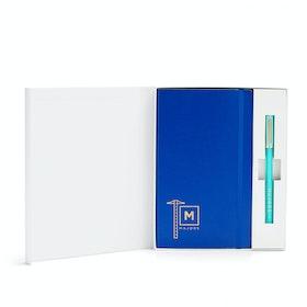 Custom Cobalt Soft Cover Gift Box Set, Aqua Tip-Top Pen,Cobalt,hi-res