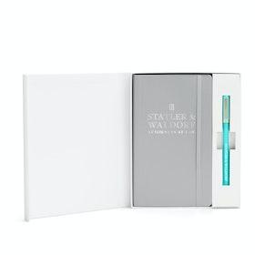 Custom Light Gray Soft Cover Gift Box Set , Aqua Tip-Top Pen,Light Gray,hi-res