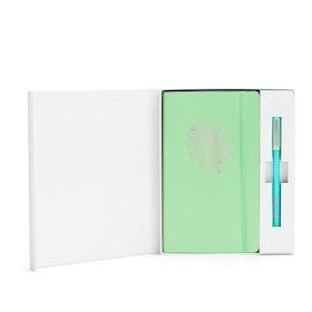 Custom Mint Soft Cover Gift Box Set, Aqua Tip-Top Pen,Mint,hi-res