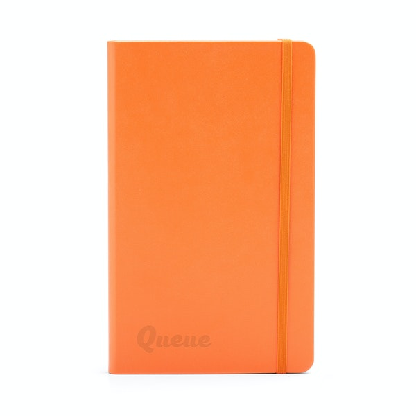 Custom Orange Medium Hard Cover Notebook,Orange,hi-res