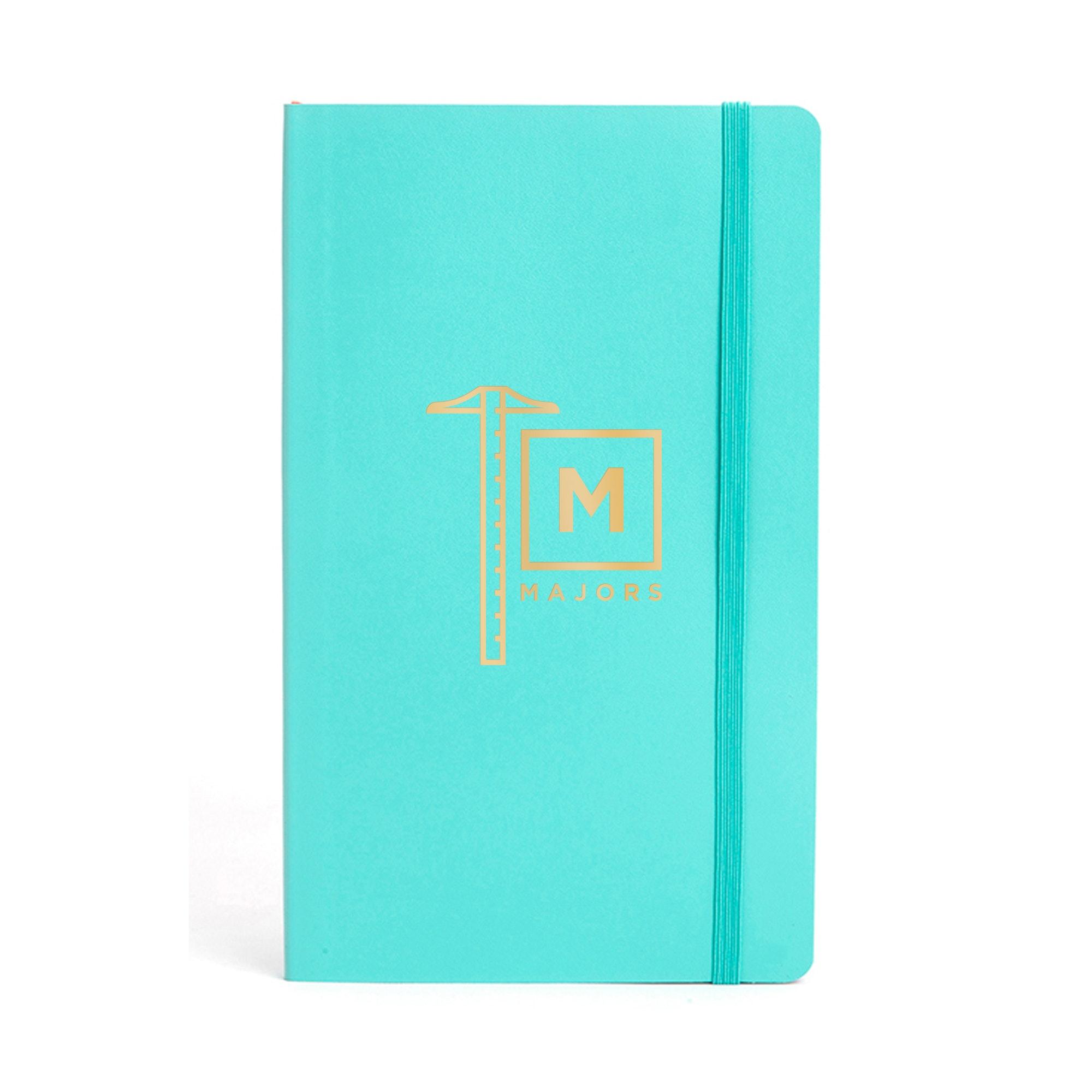 ... Custom Aqua Medium Soft Cover Notebook,Aqua,hi Res