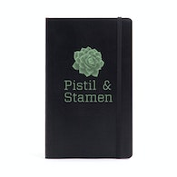 Custom Black Medium Soft Cover Notebook,Black,hi-res