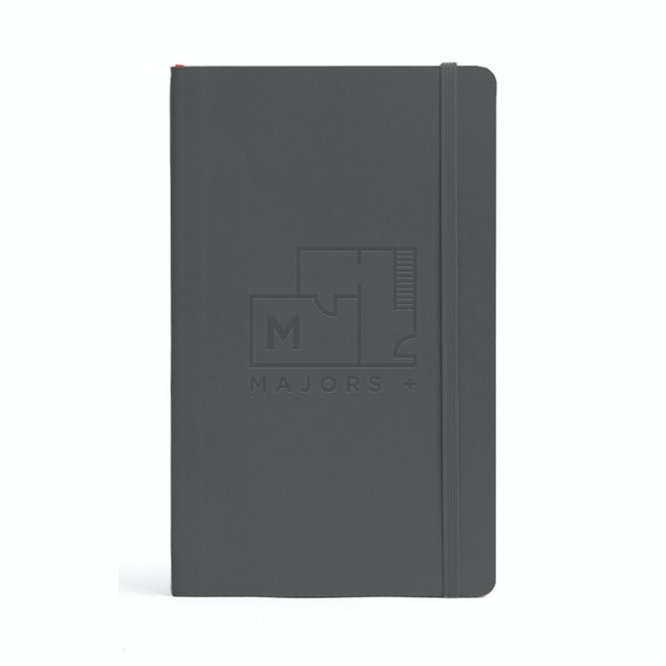 Custom Dark Gray Medium Soft Cover Notebook,Dark Gray,hi-res