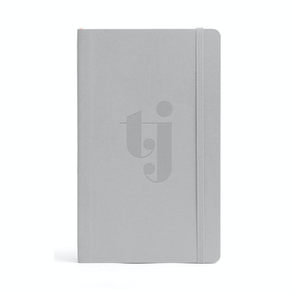 Custom Light Gray Medium Softcover Notebook,Light Gray,hi-res