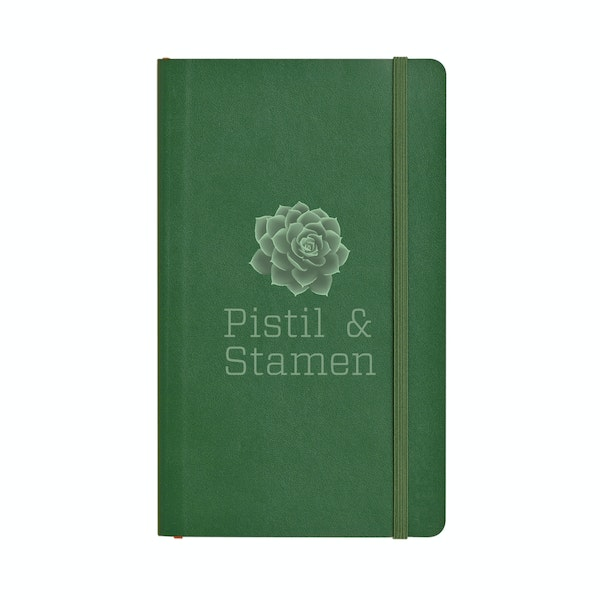 Custom Hunter Green Medium Soft Cover Notebook,Hunter Green,hi-res