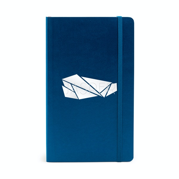 Custom Navy Medium Soft Cover Notebook,Navy,hi-res