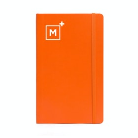 Custom Orange Medium Soft Cover Notebook,Orange,hi-res