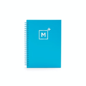 Custom Pool Blue Medium Spiral Notebook,Pool Blue,hi-res