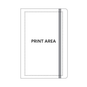Custom Black Medium Hard Cover Notebook,Black,hi-res
