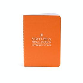 Custom Orange Mini Soft Cover Notebooks,Orange,hi-res