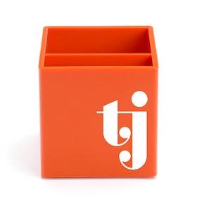Custom Orange Pen Cup,Orange,hi-res