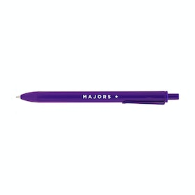 Custom Purple Retractable Ballpoint Pens with Black Ink,Purple,hi-res