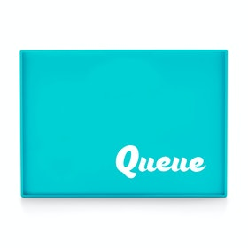 Custom Aqua Large Slim Tray,Aqua,hi-res