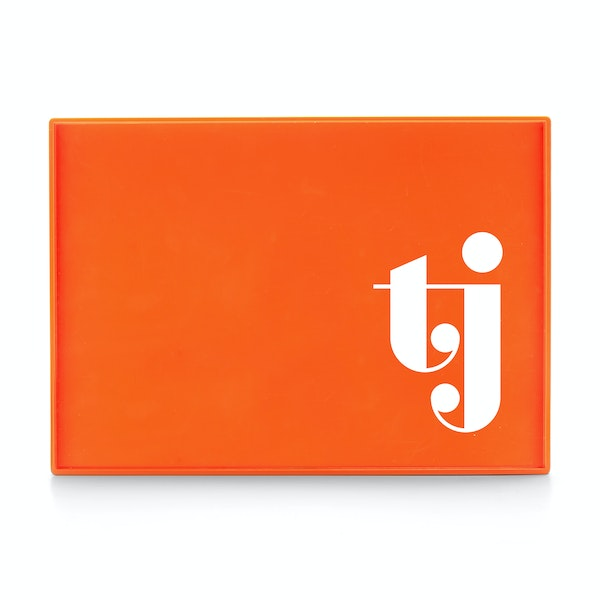 Custom Orange Large Slim Tray,Orange,hi-res
